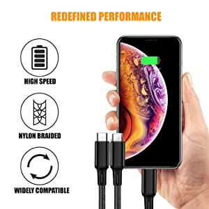 usb cable, three fast charging cable
