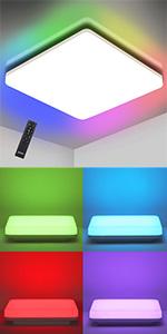 Flush Mount Ceiling Light Fixture, LED Round Ceiling Light for Bathroom Porch, 5000K Daylight