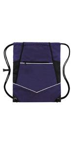 purple wet drawstring bag