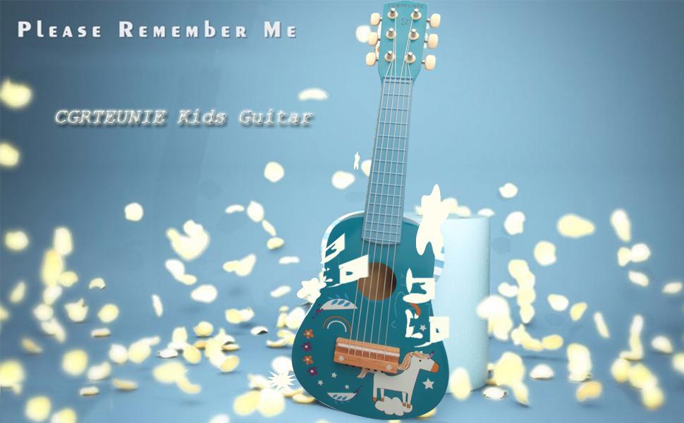 petite guitare bleue