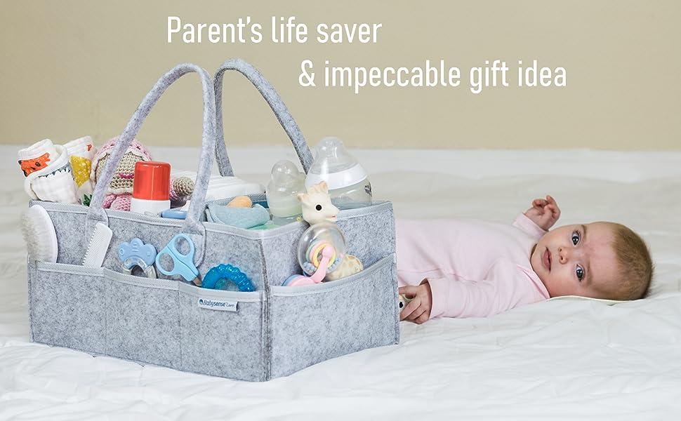 Babysense - Baby with caddy organizer