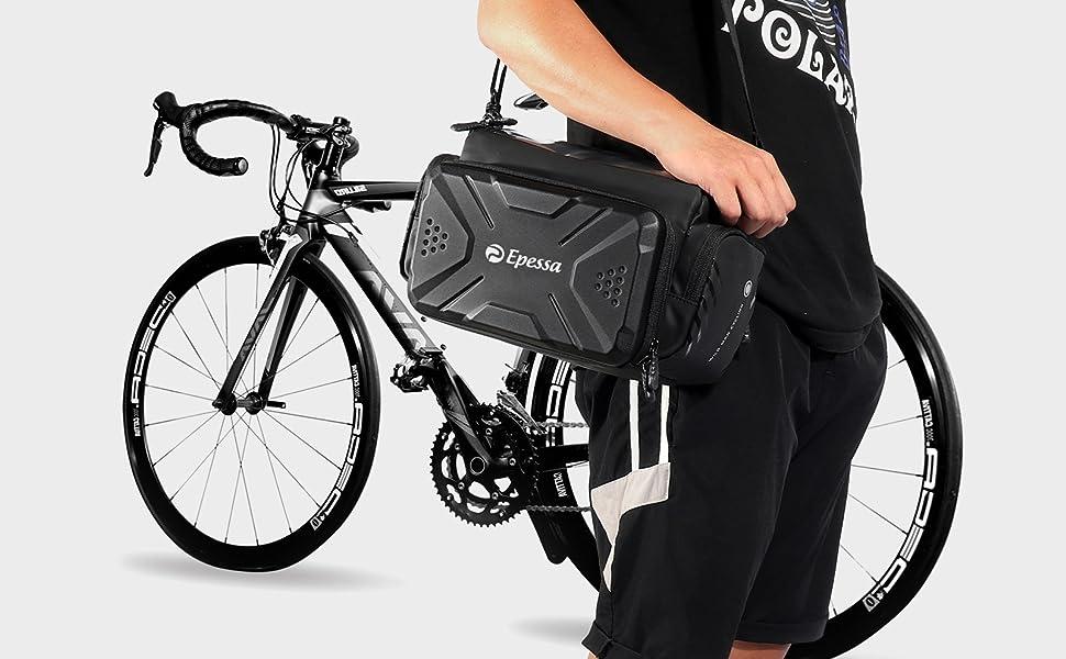 Bike shoulder bag and handlebar bag