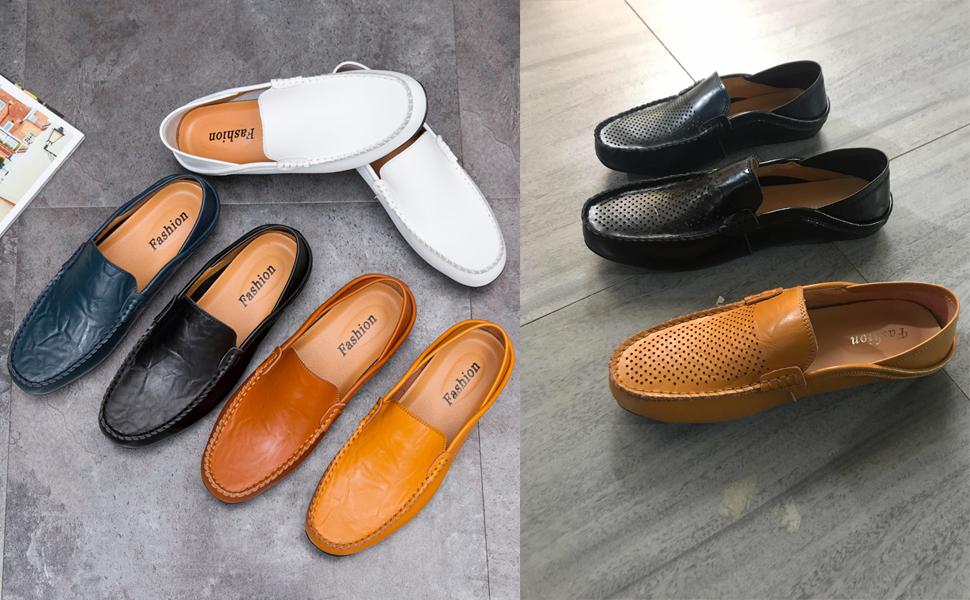 Mildred Jones Casual Shoes Men Flats Summer Beach Breathable Slipper Handmade Light Soft Slip-On Loafers Driving Shoes