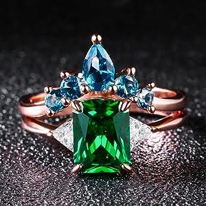 Emerald Green Cubic Zirconia