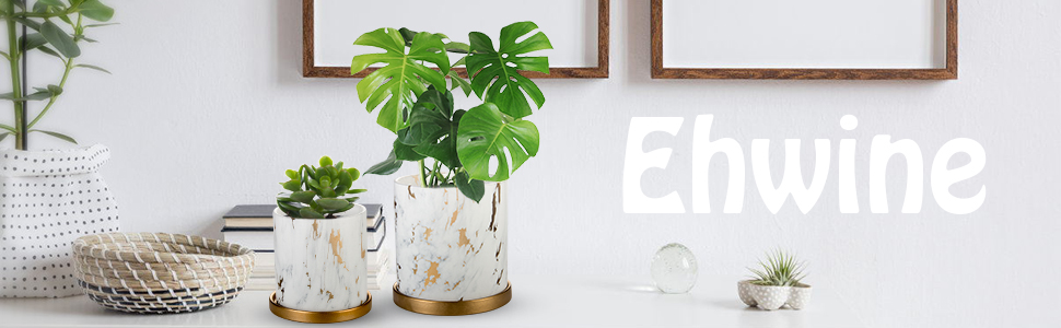 Ehwine Ceramic Flower Pot