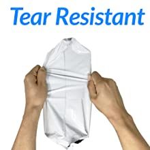 Tear Resistant Poly Mailers for Shipping, White, Non Padded Shipping Bags