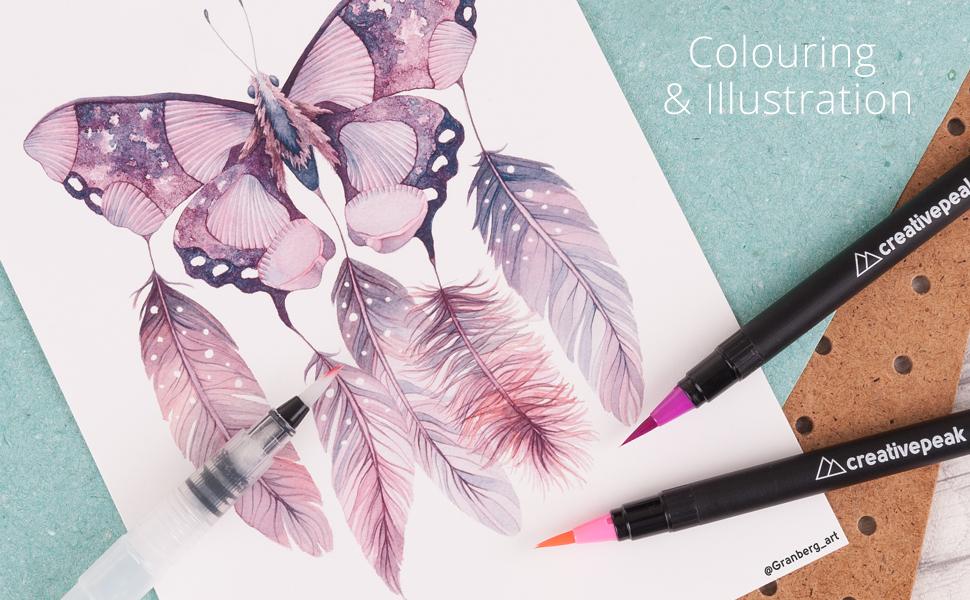 stationery illustration childrens felt sketch manga fineliner real ink pastel gifts kids quality