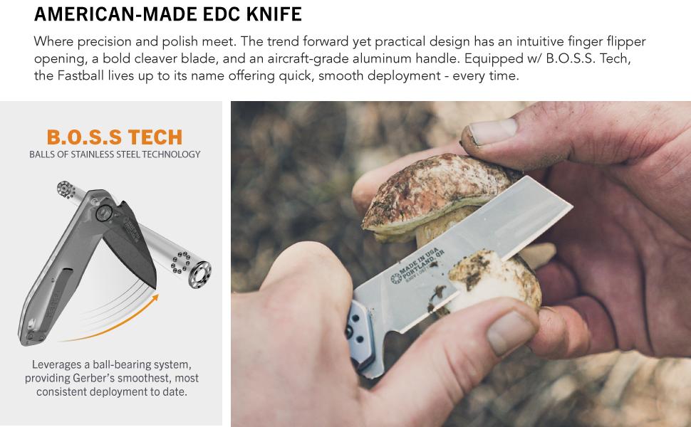 forage handle anodized cut fastball locking finger flipper edge hinge American truffles polished