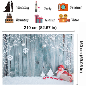 Lelinta 7X5ft Photography Christmas Backdrops Xmas Photography Background Christmas Snow Lighting Decoration Theme Photo Studio Props