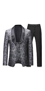 mens tuxedo suit wedding  formal  3 pieces
