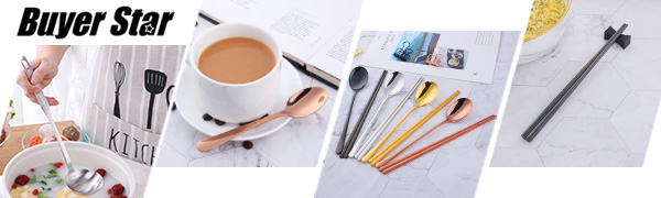 Buyer Star 12st Kaffeel/öffel Ros/égold Mini Teel/öffel 18//10 Edelstahl L/öffel f/ür Zucker Dessert Kuchen Espresso Demitasse EIS Spoon
