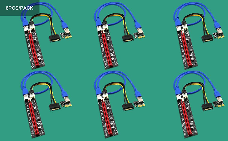 PCIE RISERS GPU RISERS PCIE X1 TO X16 CABLE PCIE RISER CABLE GPU RISER ADAPTERS