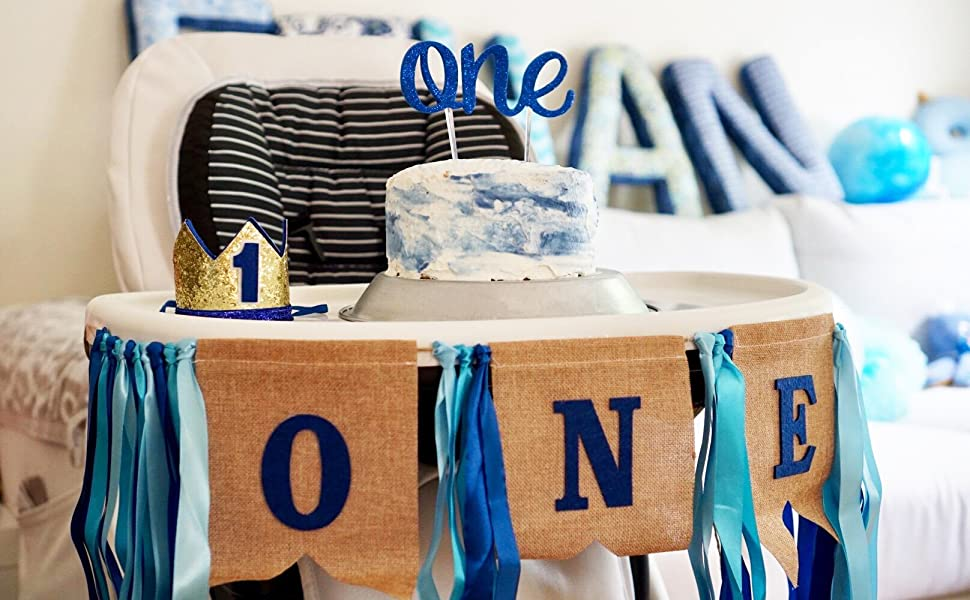 first birthday outfit in royal blue white chevron and orange trims gator party cake smash outfit