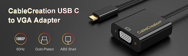 USB C to VGA Adapter