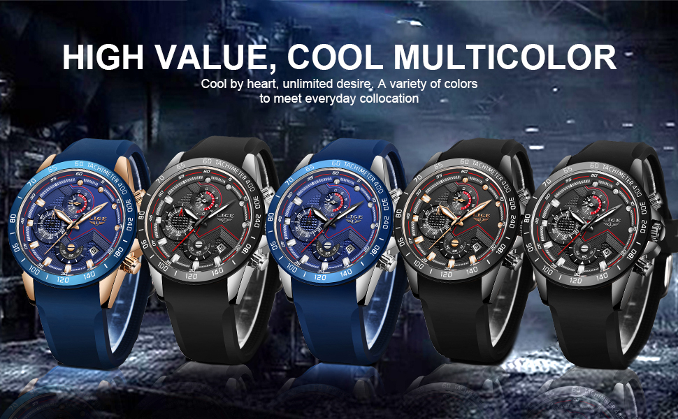 Silicone watch for men