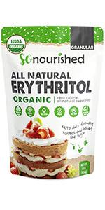organic granular erythritol
