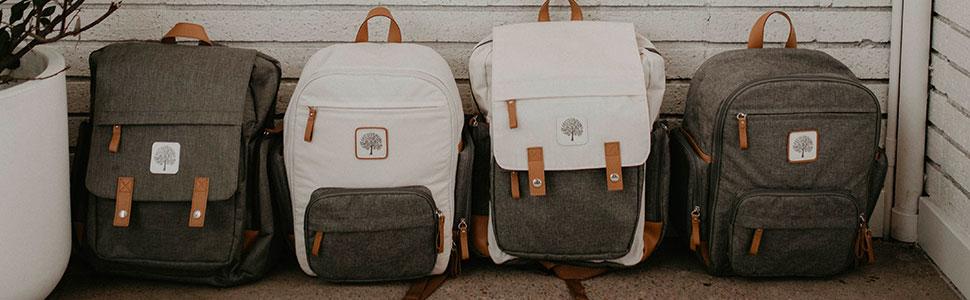 The Birch Bag: a modern diaper backpack