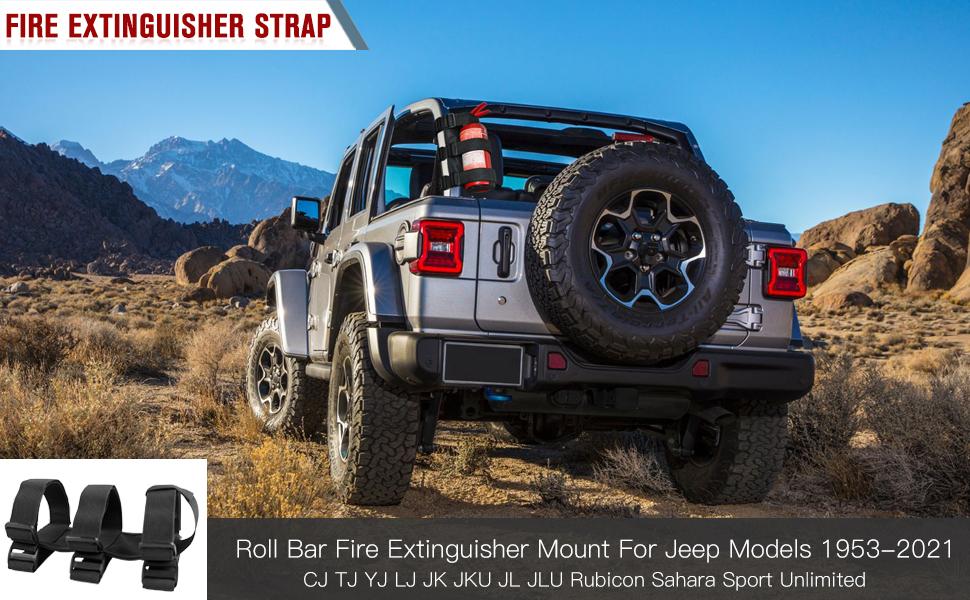 Fire Extinguisher Mount for Jeep Wrangler Models