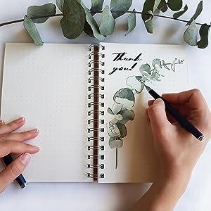 spiral bound notebook large, wide lined spiral notebook, appointed notebook spiral, blank sketchbook