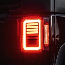 Line amp; Halo Design  60-LED Smoked  Tail Light  Close up with Brake on
