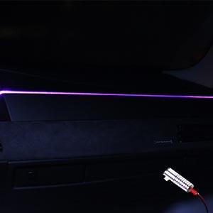 Ambitrim Ambiente Lichtleiste Ambientebeleuchtung 2m Armaturenbrett 4x1m Türen Rgb Bt Rf Auto