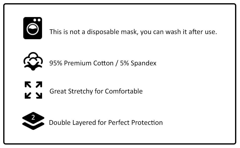 BasicList Mask Cotton Black