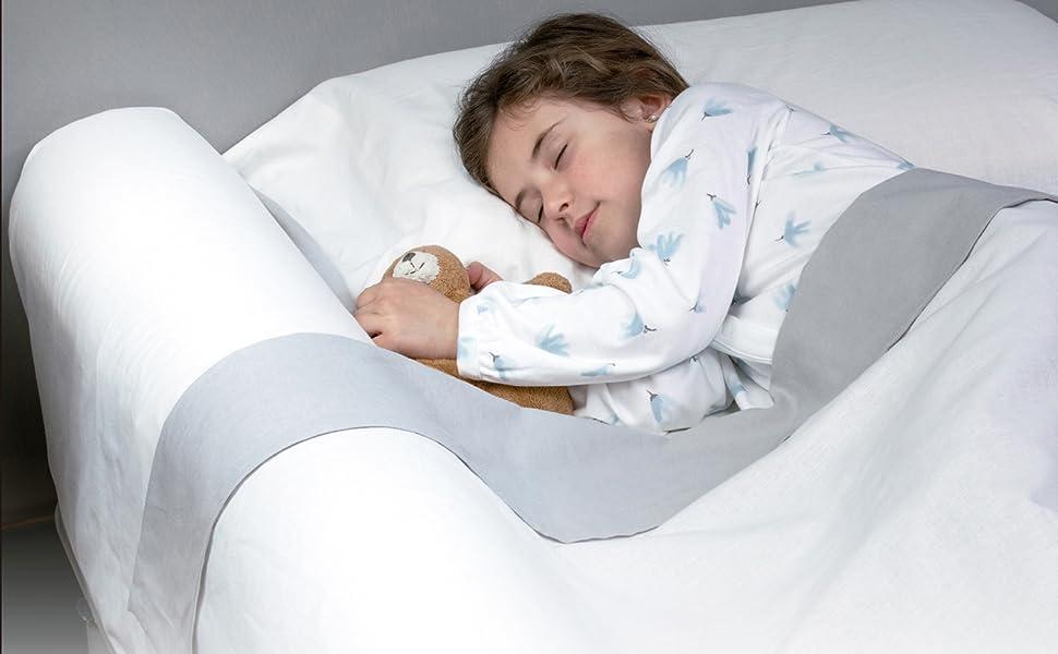 Barrier Guard Le Pare-Chocs de Protection de lit prot/ègera Votre Enfant en Toute s/écurit/é et Confortable pour Votre Enfant 14x20x73 Prot/ège-lit en Mousse Rose