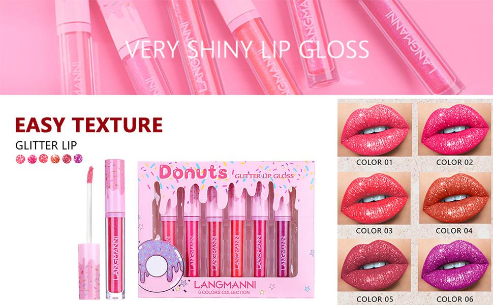 glitter lipstick set