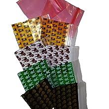 jaune X100, 4X5cm Sachets Pochons jaunes Zip Ziplock AlixS qualit/é industrielle 50 microns fermeture /à glissi/ère refermable /étanche herm/étique r/éutilisables ind/échirables