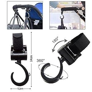 Mobile Holder Stroller Bag Hooks-Cupholder Phone Holder Pram Hooks ...
