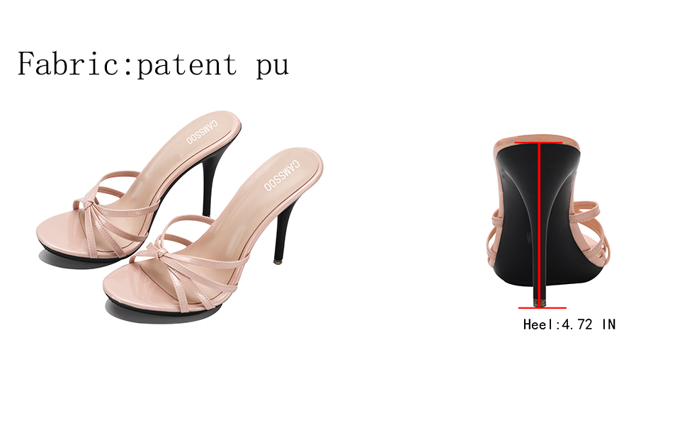 black slip on high heels