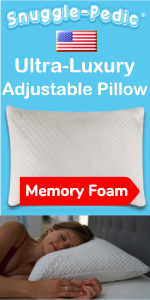 Snuggle Pedic bed luxury adjustable shredded memory foam bamboo pillows good luxury side sleeper
