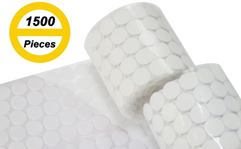 AUTENS Sticky Dots, 1500 Pieces (750 Pair Sets)