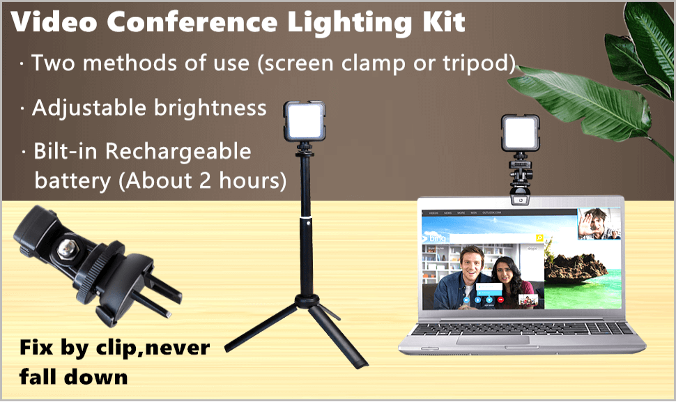 video conference lighting laptop zoom light for  computer light video conferencing remote working
