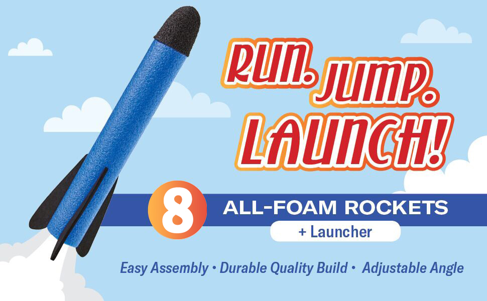 rocket launcher toy for boys age 3 4 5 6 7 8 stomp rocket jump toy outdoor play foam outside toys