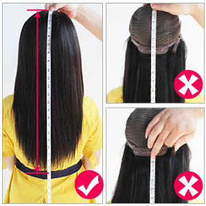 how to measure the hair length