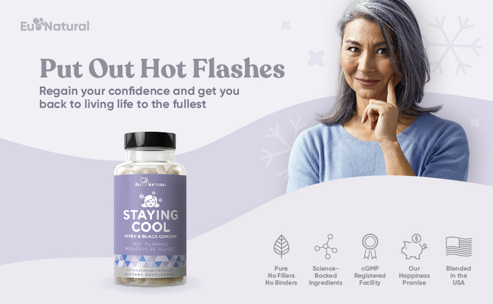 Eu Natural Staying Cool for hot flashes menopause relief hormonal balance