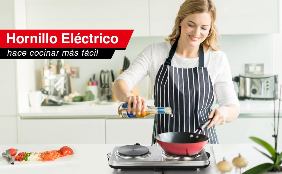 SUNAVO Hornillo Electrico Portatil Placa Cocina eléctrica ...
