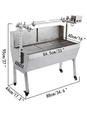 Barbecue electrique rotisserie