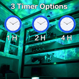 ocean waves projector night light projection lamp for adults led light show for room