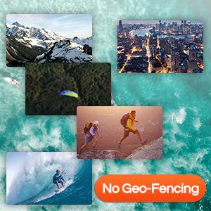 No geo-fencing