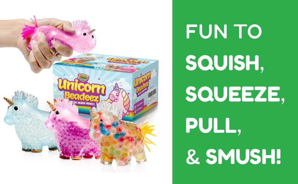 Fun to squish, squeeze, bounce and smush!
