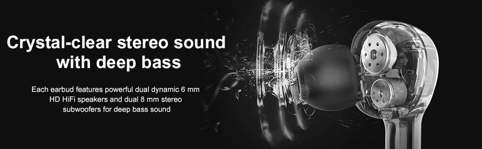 Crystal-clear stereo sound