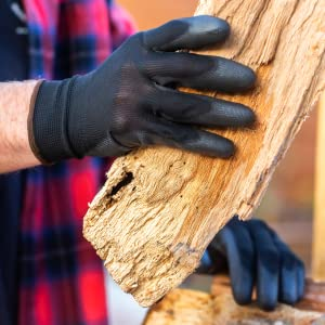 Dipped Gloves Safety Work For Carrying Lumber