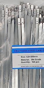 12 inch steel zip ties Natural
