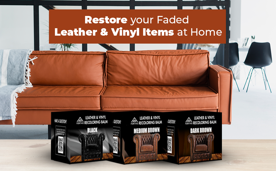 Dark Brown Leather Recoloring Balm Leather Repair Kits For Couches Leather Restorer For Couches Brown Car