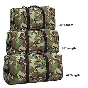 Camouflage Travel Bag Camo Rooftop Cargo Duffel Gym Sports Equipment Bag
