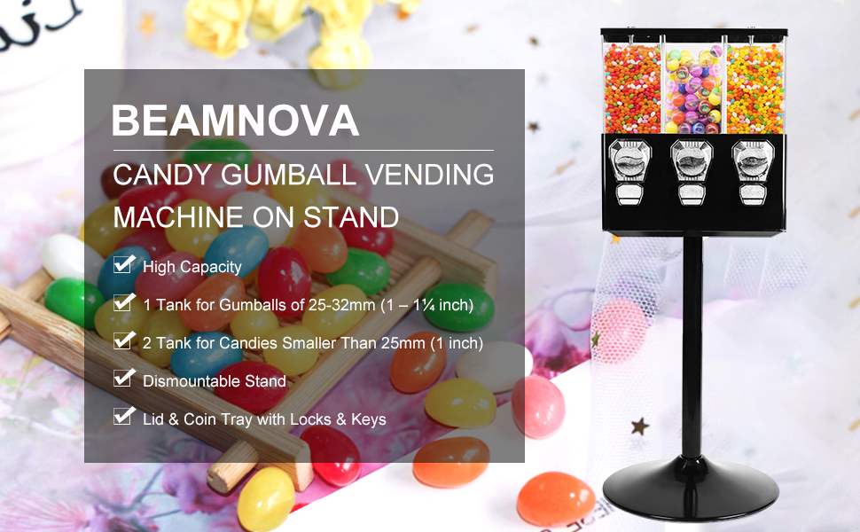 candy machine on stand 3 canister