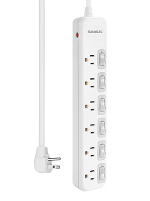 surge protector with individual switches