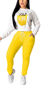 Casual 2 piece pants set for women